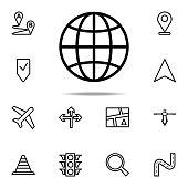 globe icon. Navigation icons universal set for web and mobile