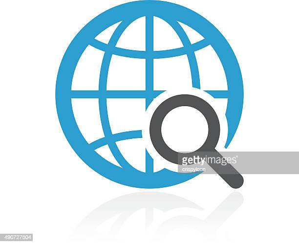 Globe icon on a white background. - ColorSeries
