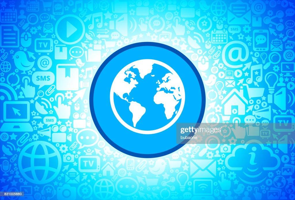 Globe Icon On Internet Technology Background Stock