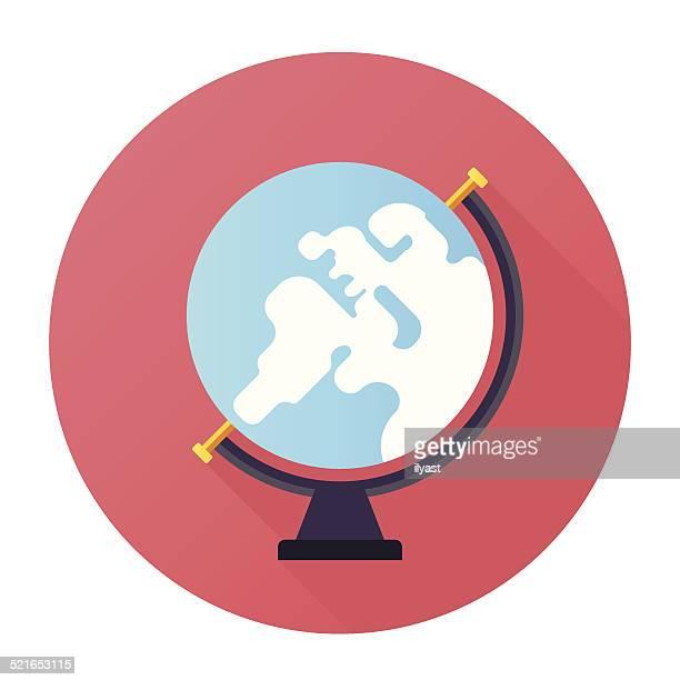 illustrazioni stock, clip art, cartoni animati e icone di tendenza di icona globo - mappamondo