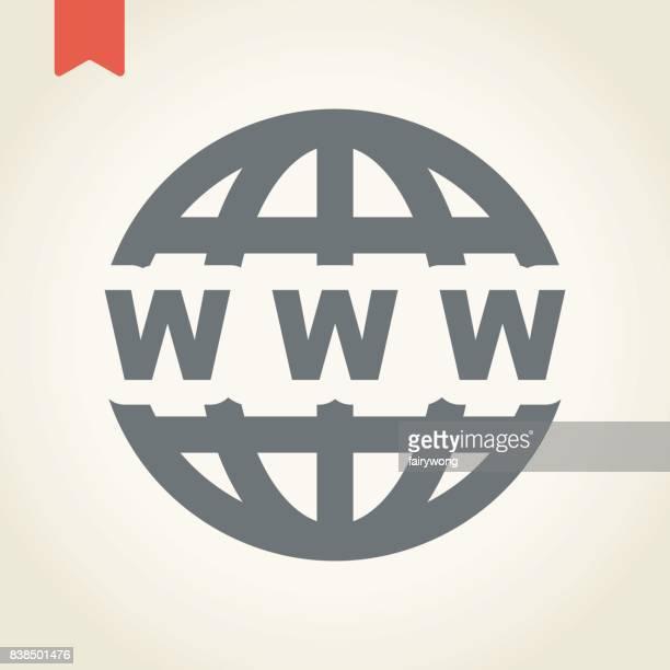 世界中のアイコン - ワールド・ワイド・ウェブ点のイラスト素材/クリップアート素材/マンガ素材/アイコン素材