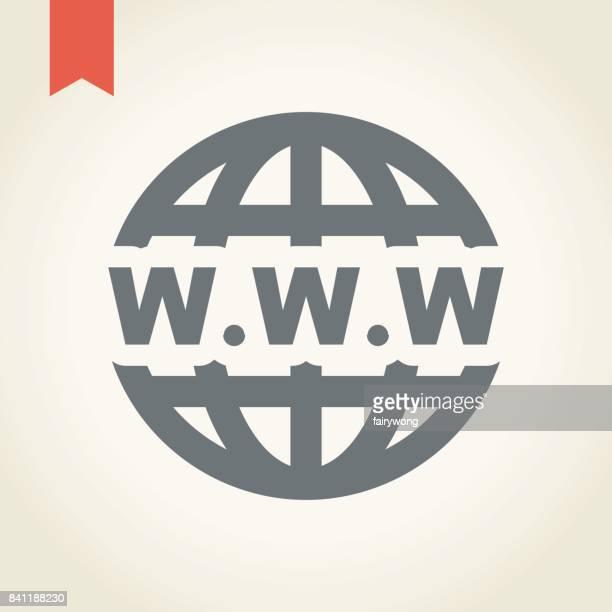 ilustrações, clipart, desenhos animados e ícones de ícone de globo - www