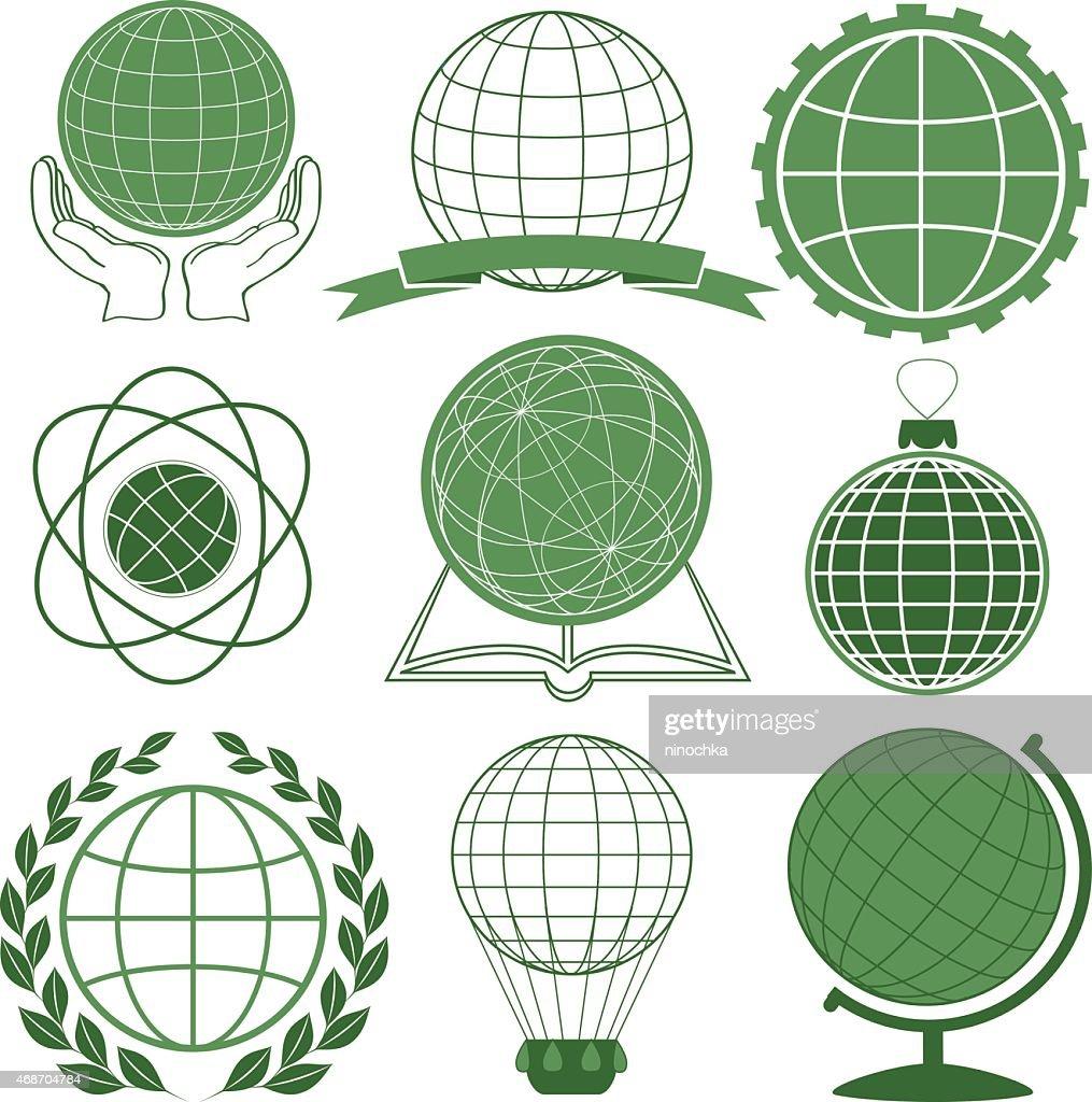 Globe icones
