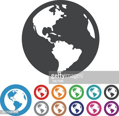 Globe Icons Graphic Icon Series stock illustration - Getty