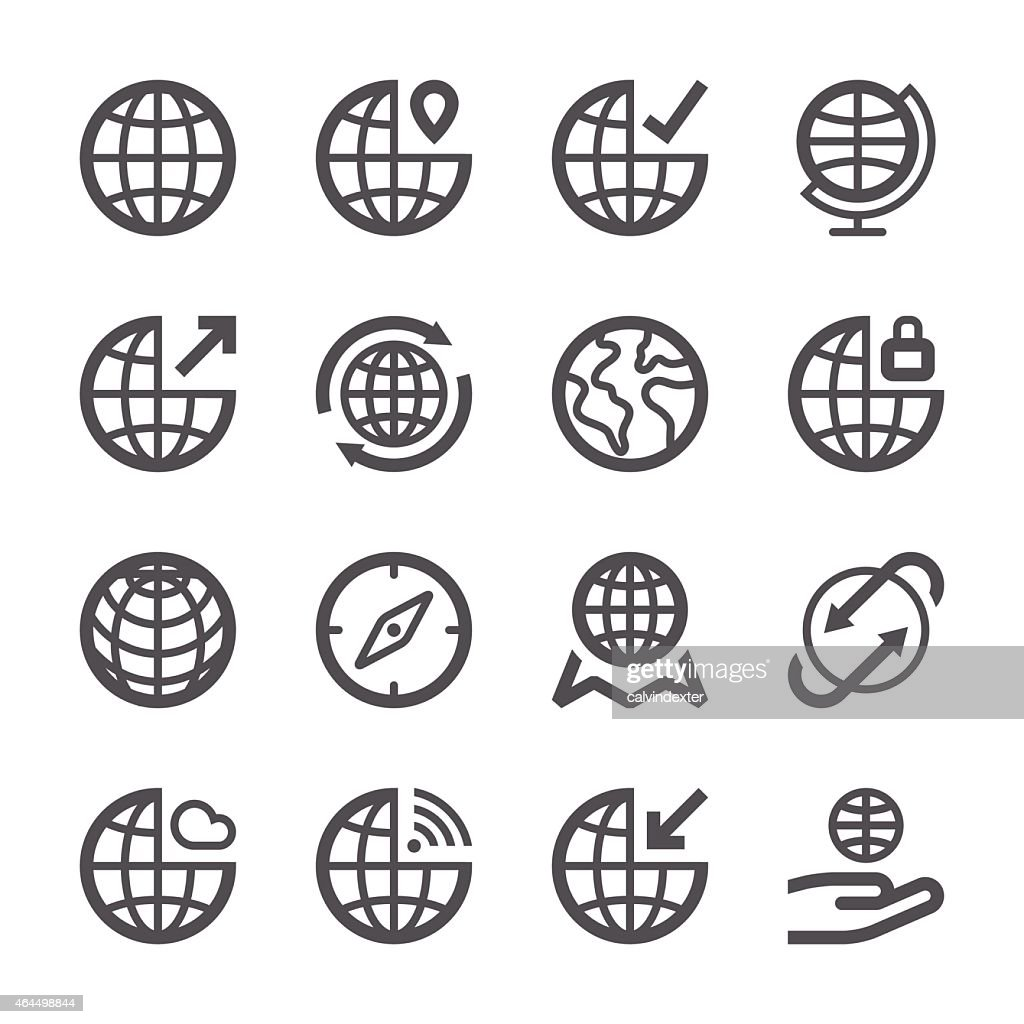 Globe Icons set 1 | Stroke Series