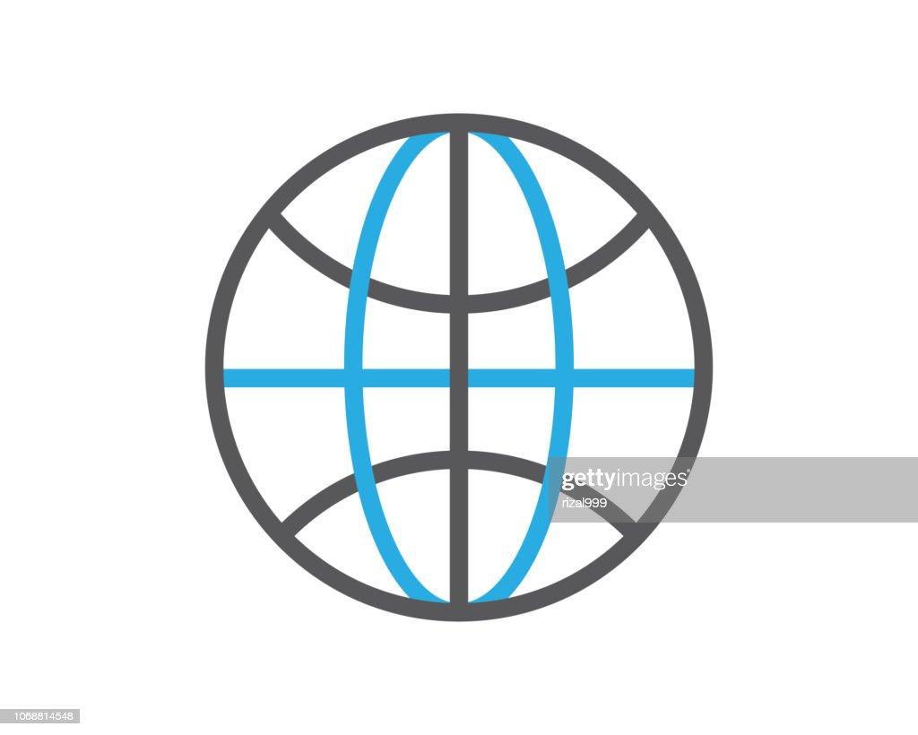 globe line icon illustration vector,globe icon illustration vector,globe line website icon