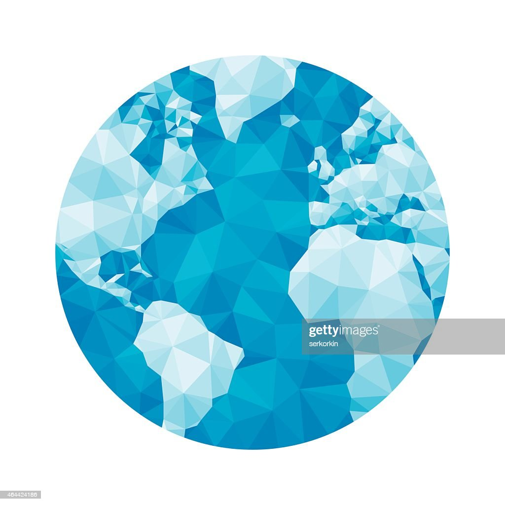Globe map - abstract geometric vector illustration.