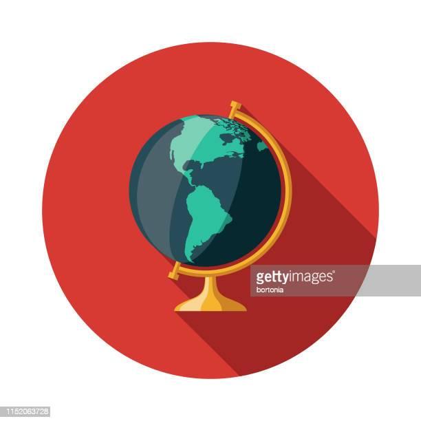 illustrations, cliparts, dessins animés et icônes de icône carte globe - globe terrestre