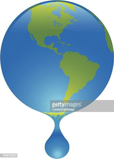 世界を解消 - 水の無駄遣い点のイラスト素材/クリップアート素材/マンガ素材/アイコン素材
