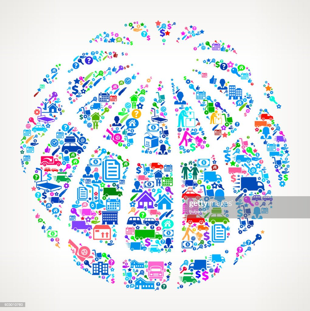 globe moving and relocation icon pattern vector art getty images