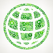 Globe  Nature and Environmental Conservation Icon Pattern