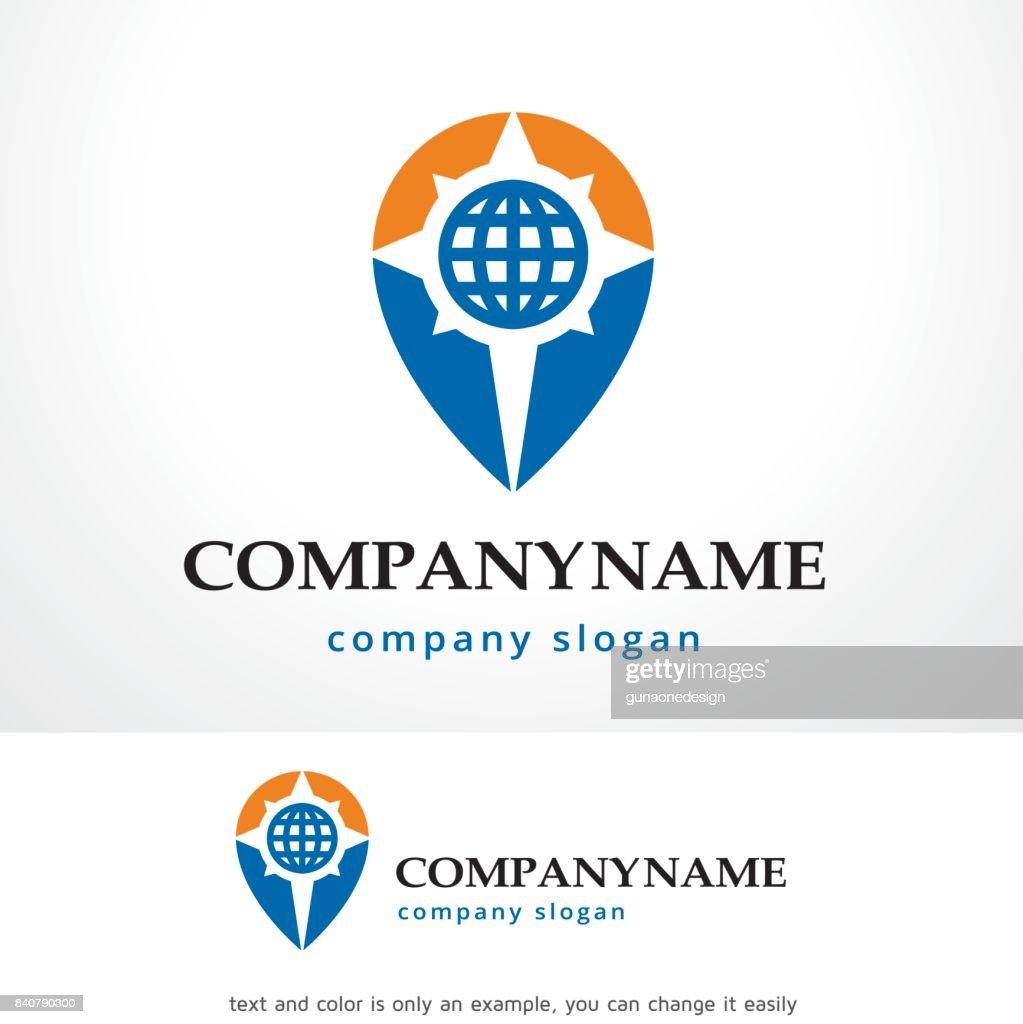 Globe Point Symbol Template Design Vector Emblem Concept Creative Icon