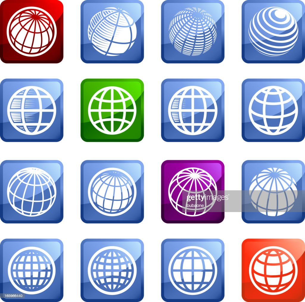 Globe royalty free vector arts super vector icon set stickers : stock illustration