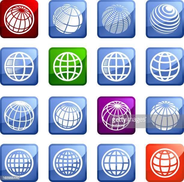 Globe royalty free vector arts super vector icon set stickers