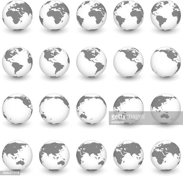 Globe royalty free vector interface icon set World Map