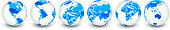 Globe royalty free vector interface icon set World Map
