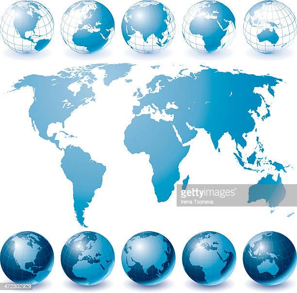 Globe Set and World Map