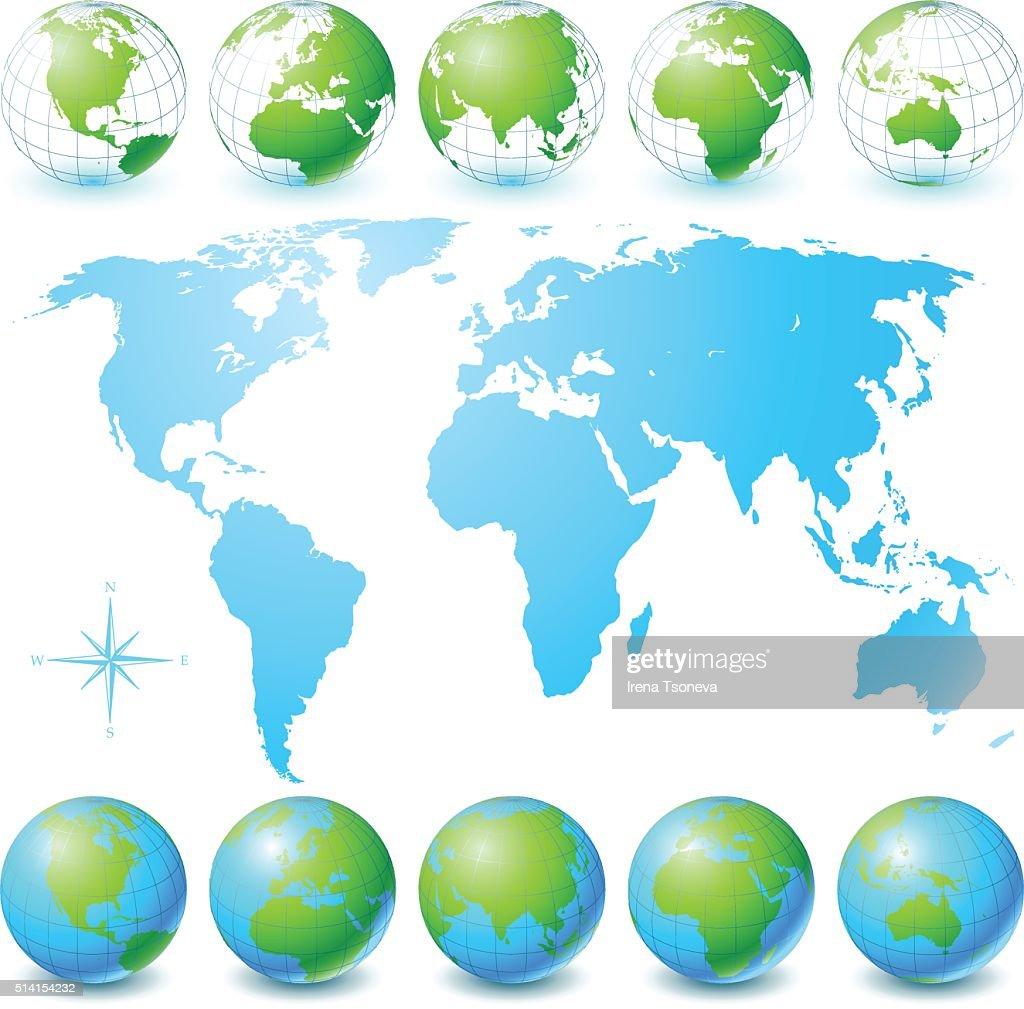 Globe Set and World Map