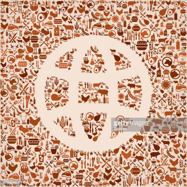 globe summer barbecue invitation vector background - zea stock illustrations, clip art, cartoons, & icons