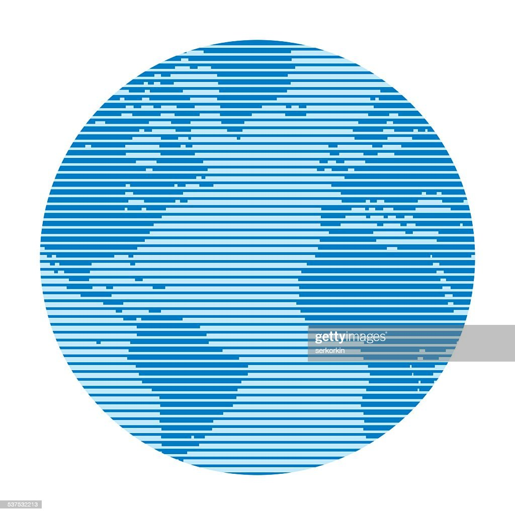 Globe - vector abstract illustration
