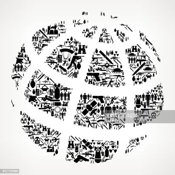 weltkrieg und modern warfare vektormuster symbol - bombenanschlag stock-grafiken, -clipart, -cartoons und -symbole