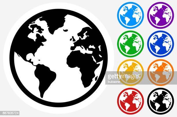 Globus mit Weltkarte.