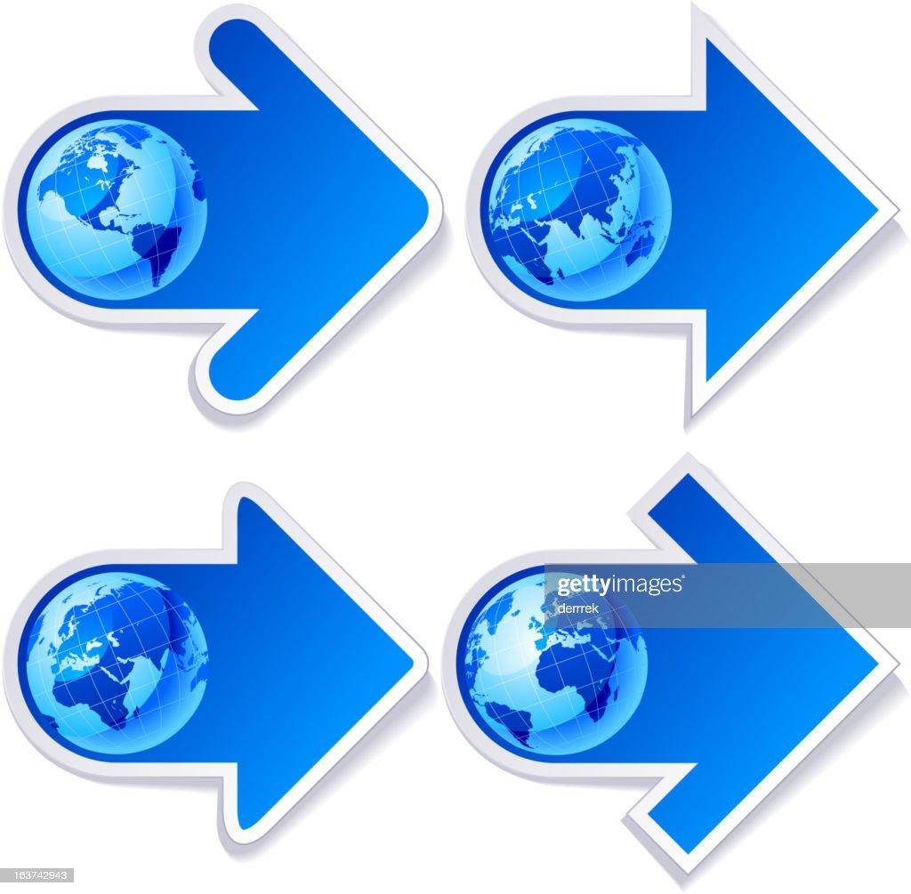 Globe world map label sticker vector art getty images globe world map label sticker vector art gumiabroncs Images