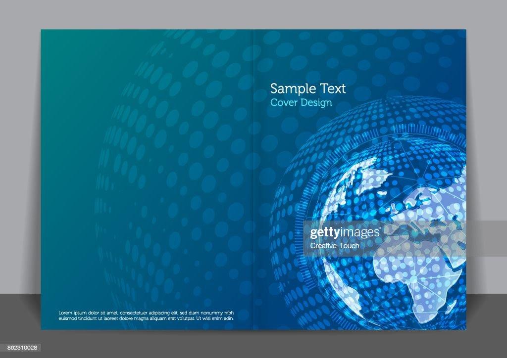 Globel Business Cover design : stock illustration