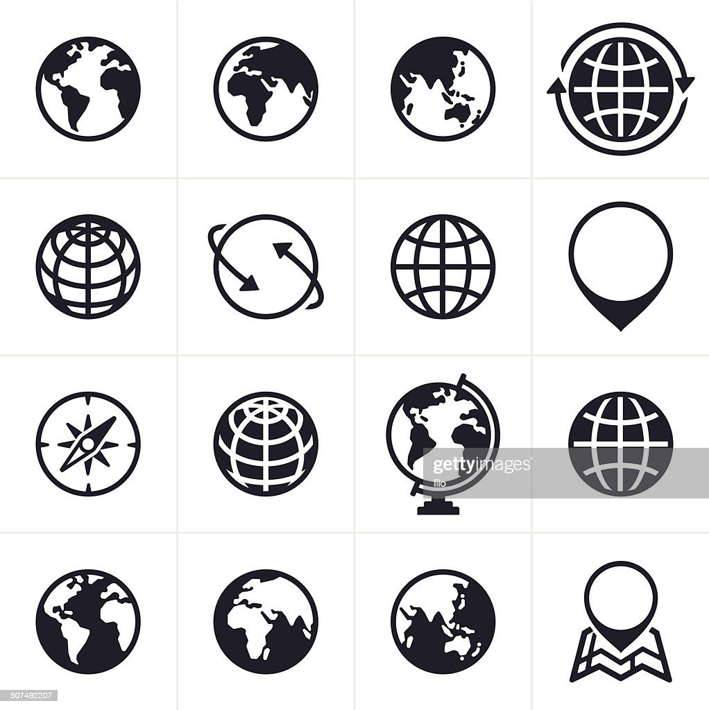Globes Icons and Symbols : stock illustration
