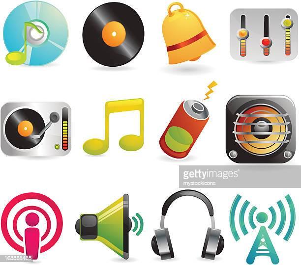 Gloss Web Icons - Set 3 (Music)