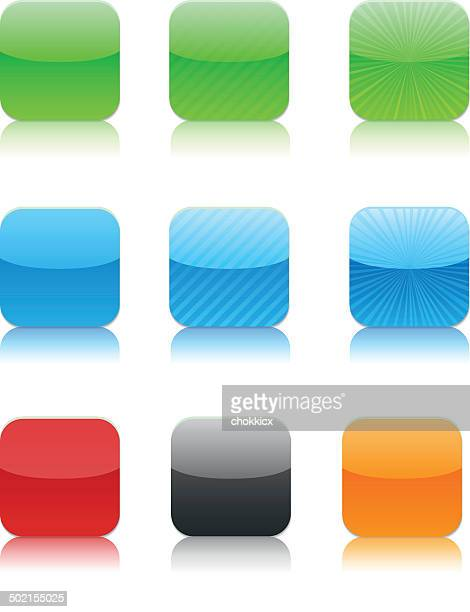 Glossy App icon buttons with reflection