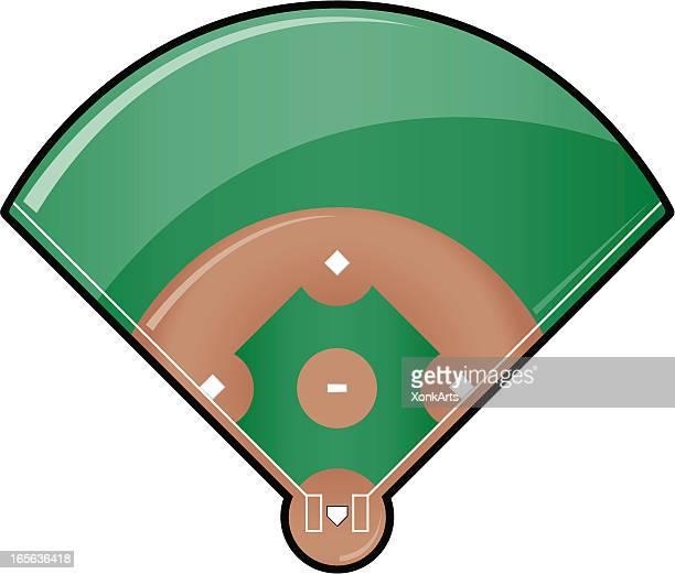 Glossy Baseball Field