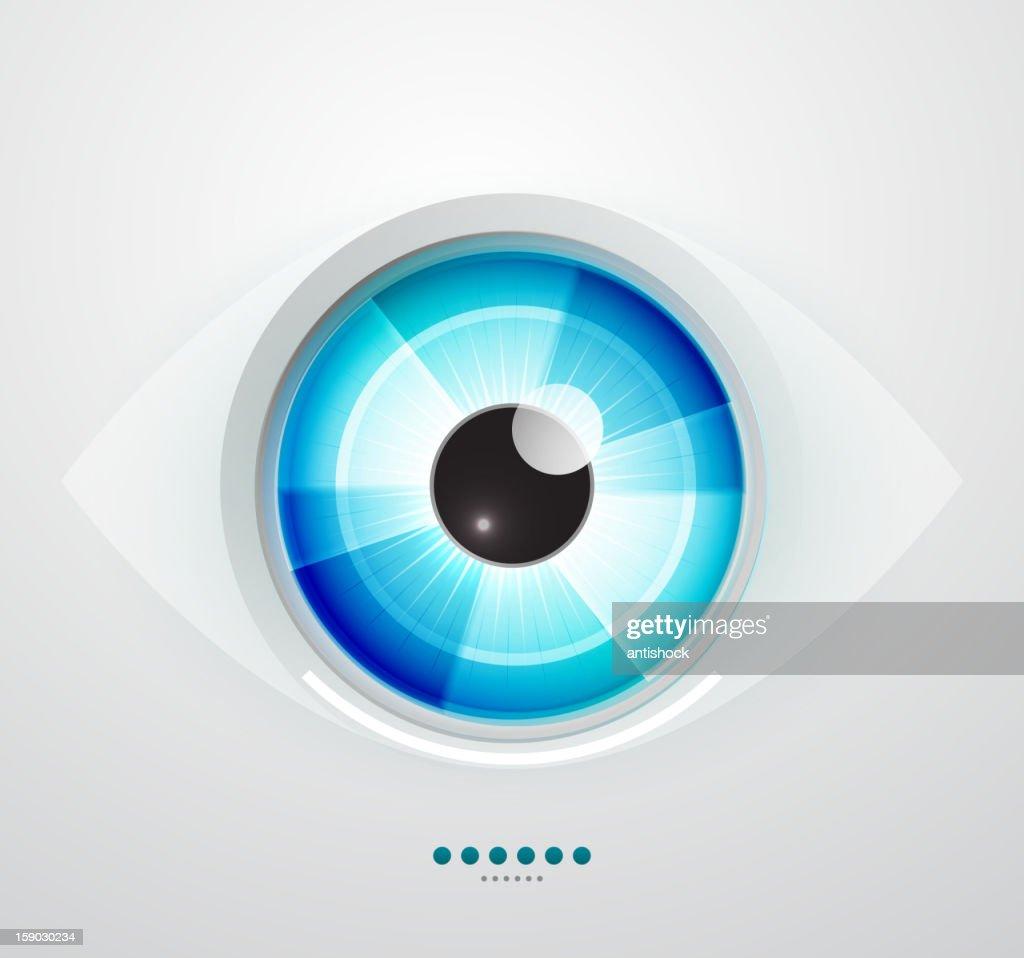 Glossy blue eye