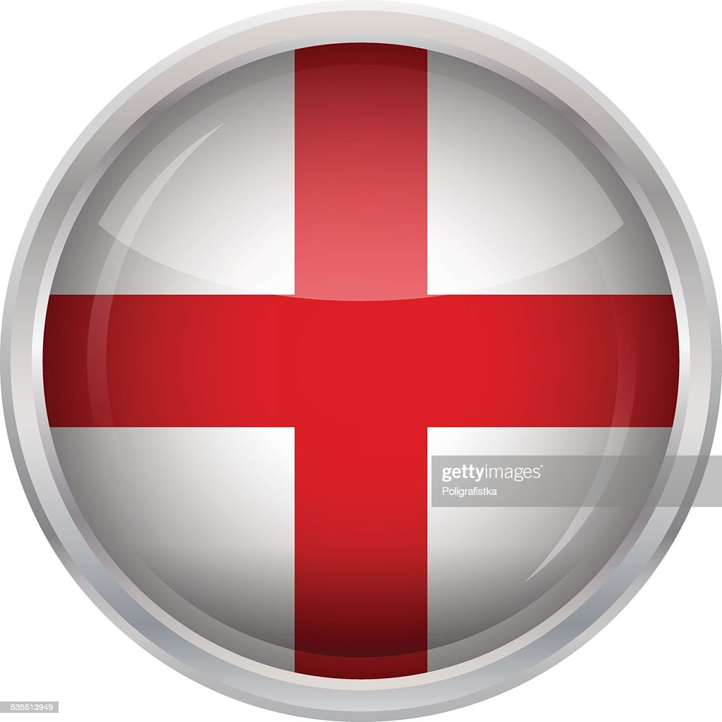 Glossy Button - Flag of England
