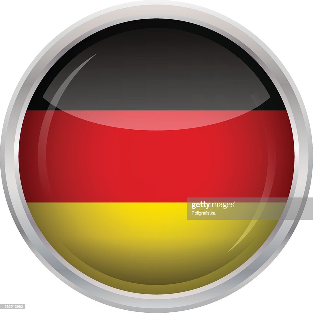 Glossy Button - Flag of Germany