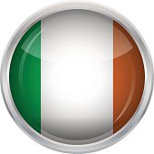 Glossy Button - Flag of Ireland