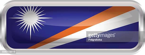 ilustraciones, imágenes clip art, dibujos animados e iconos de stock de botón brillante-bandera de las islas marshall - marshall islands