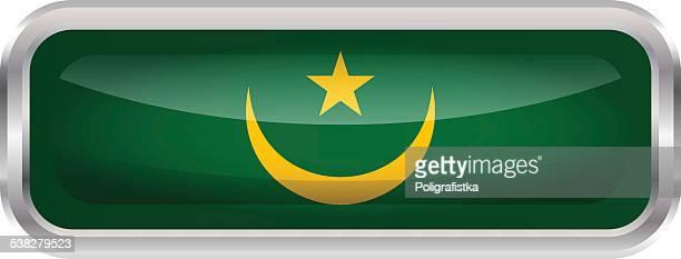 Glossy Button - Flag of Mauritania