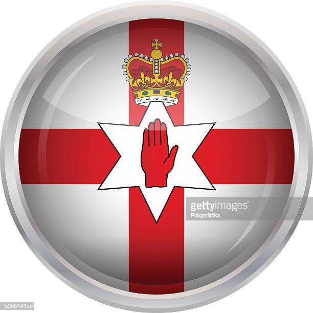 Glossy Button - Flag of Northern Ireland
