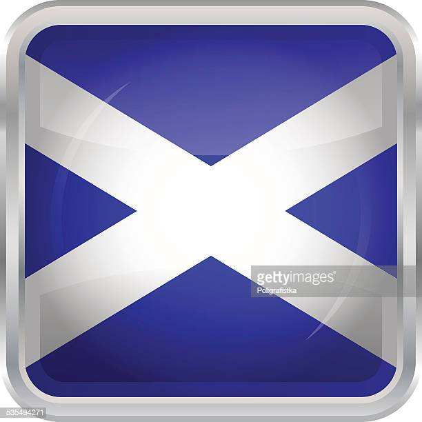 Glossy Button - Flag of Scotland