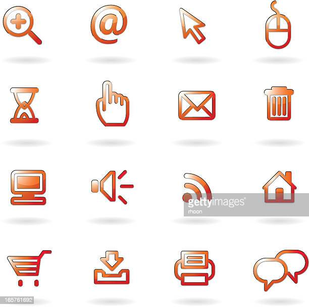 Glossy Computer icons
