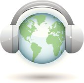 glossy earth, headphones, world music