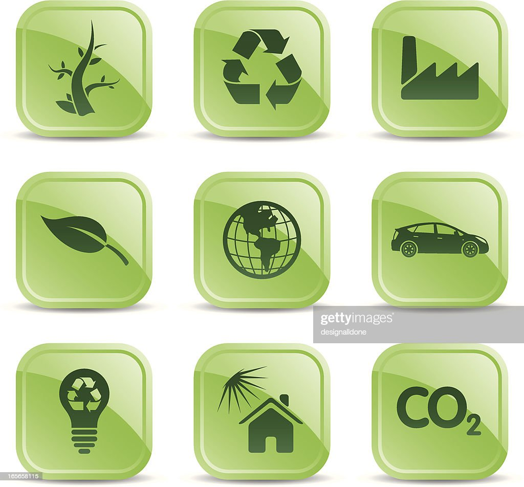 Glossy Eco Icons