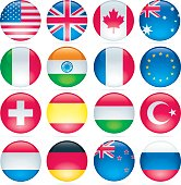 Glossy Flag Buttons