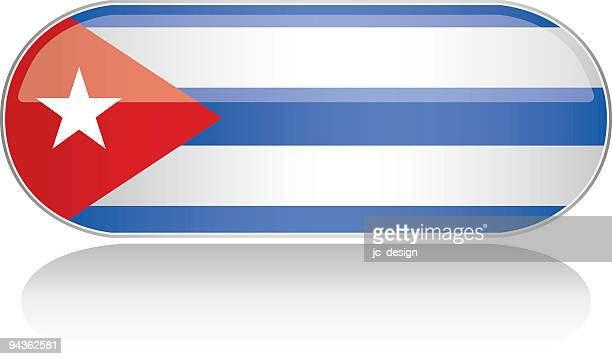 glossy flag series - cuba - cuban culture stock illustrations, clip art, cartoons, & icons