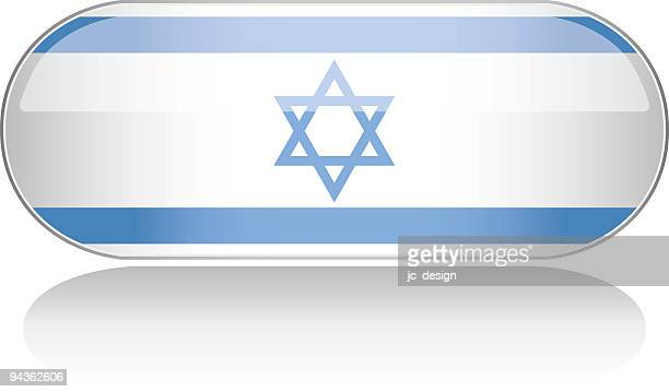 glossy flag series - israel - zion national park stock illustrations, clip art, cartoons, & icons