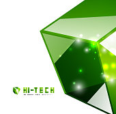 Glossy green hi-tech background