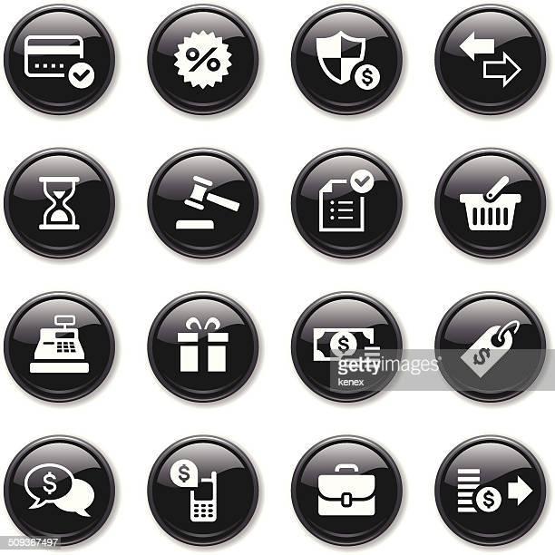 Glossy Icons Set | Banking & Finance