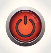 Glossy power button icon