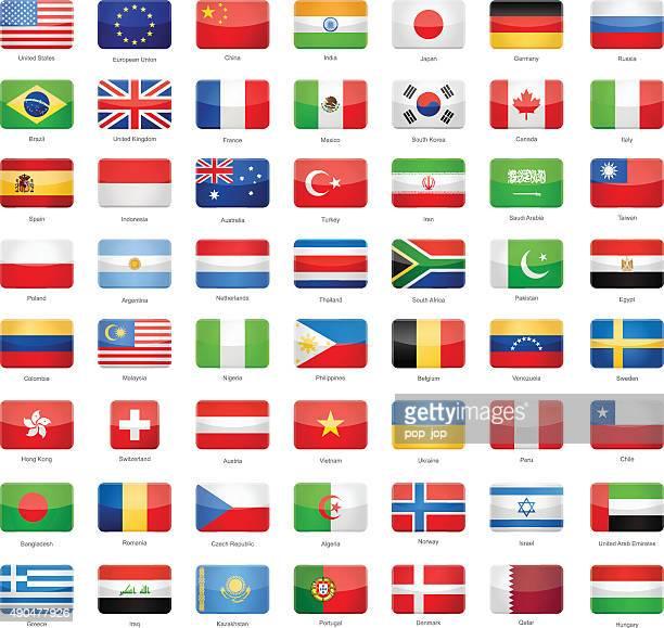 glänzende rechteckige flags-beliebtesten - russische flagge stock-grafiken, -clipart, -cartoons und -symbole